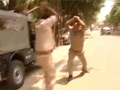 Caught on camera: In Lucknow, it's khaki vs khaki
