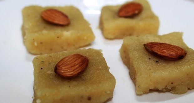 Papaya Badam Barfi