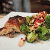 Buttermilk Chicken with Char Grilled Broccoli Recipe