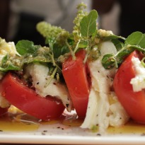 Caprese Salad with Pesto Sauce