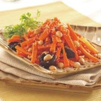 Carrot, Peanut and Prune Salad