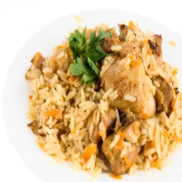 Leftover Chicken Curry Pulao