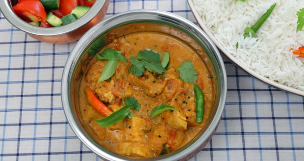 Chicken Curry with Coriander Rice