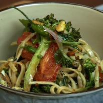 Chilled Indian Udon Noodle Salad