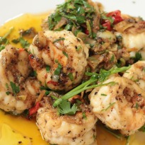 Shrimps With Parsley and Lemon