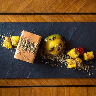 Caramel Spiced Mango Mousse