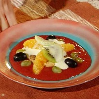 Recipe of Sabayon with Strawberry Sauce