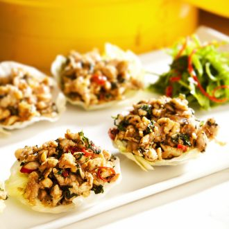 Recipe of Hot Basil Chicken Cups