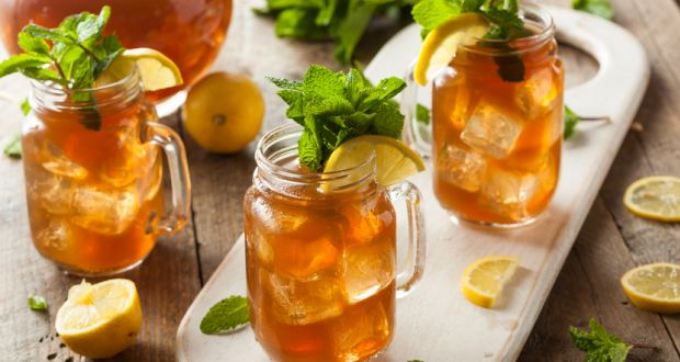 Iced Mint and Lime Tea