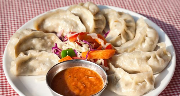 Recipe of Lamb Momos with Sweet Chilli Sauce