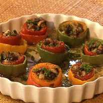 Marinated Stuffed Peppers Recipe