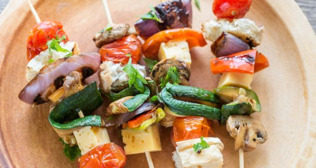 Recipe of Mix Vegetables and Cheese Skewers