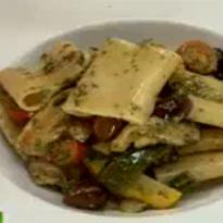 Pasta with Roasted Mediterranean Veggies