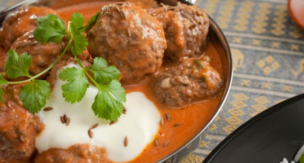 Peach and Paan Koftas in Korma Sauce
