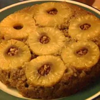 Pineapple and Ginger Upside Down Cake