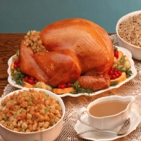 Recipe of Roast Turkey with Cranberry Sauce