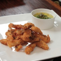 Recipe of Salmon Goujons with Homemade Mayonnaise