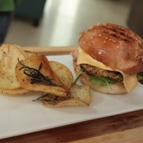 Sea Bass Burger with Wasabi Mayo  Recipe