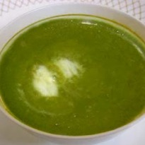 Spinach Soup in a blender