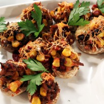 Stuffed Masala Mushrooms