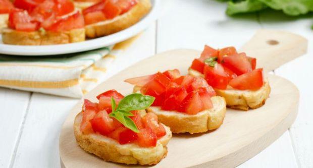 Tomato Caper Bruschetta