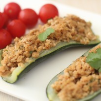 Zucchini Stuffed with Soya   Recipe