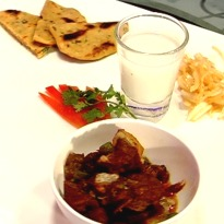 Pakistani Style Potatoes Bhujia, with Besan ki Roti  Recipe