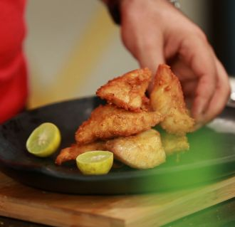 Fried Fish Amritsari (My Yellow Table)