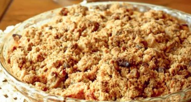 Image result for Apple Crumble with Singhara Atta