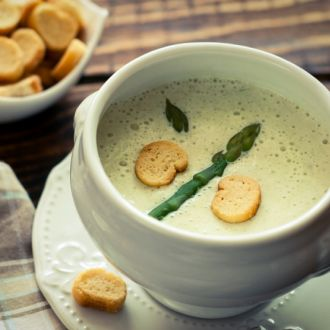 Asparagus & Coconut Soup (My Yellow Table)