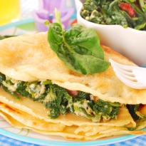 Baked Herb Crepes