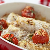 Baked Fish with White Sauce