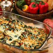 Baked Spinach and Corn Recipe
