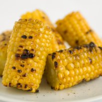 Barbecued Corn with Chilli and Lime Butter