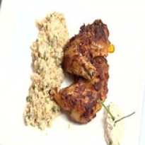 Recipe of Barley Risotto with Marinated Chicken