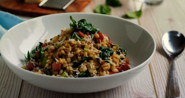 Recipe of Barley and Spinach Risotto