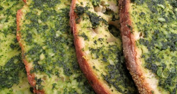 Basil Butter Bread