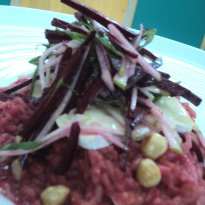 Recipe of Beet and Green Apple Risotto