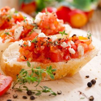 Recipe of Masala Papad Bruschetta