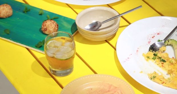 Recipe of Chamomile, Apple & Mint Iced Tea (My Yellow Table)