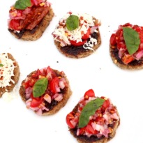 Cherry Tomato Onion Crostini