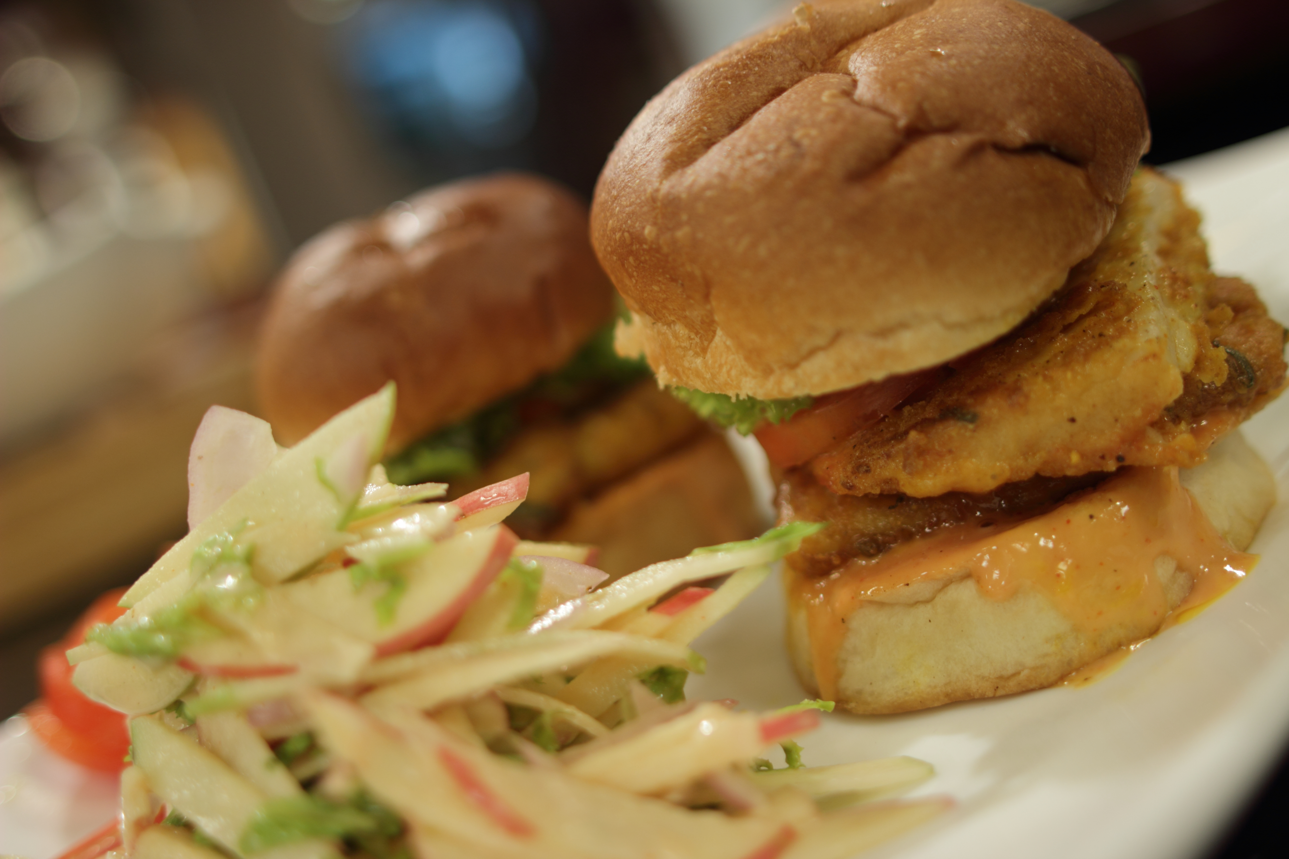 Chicken and Fish Burger