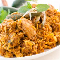 Chicken Reshmi Biryani Recipe