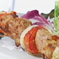 Chicken Kebab Flavoured with Coriander