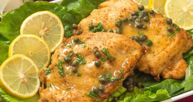 Chicken Piccata With Bread Salad