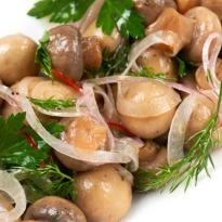 Chilled Mushrooms and Capsicum
