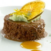 Bitter Chocolate and Orange Frozen Mousse