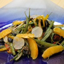 Cluster Beans with Ginger and Citrus