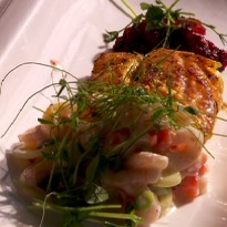 Newfoundland Cod with Shrimp Raita  Recipe