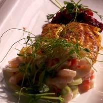 Recipe of Newfoundland Cod with Shrimp Raita